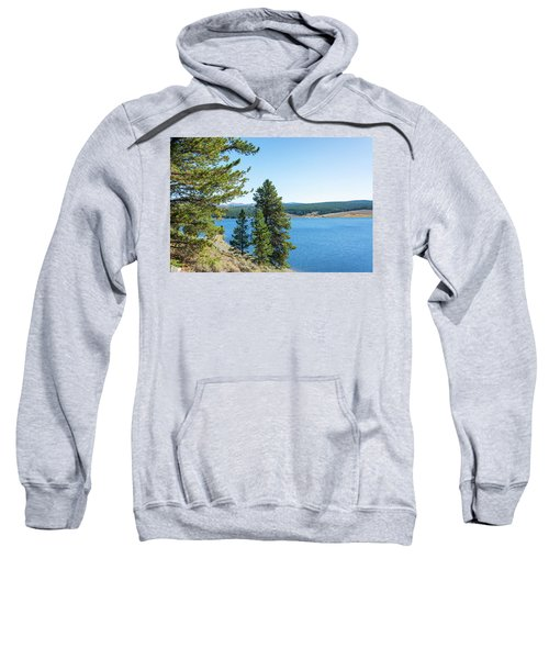 Meadowlark Lake And Trees Sweatshirt by Jess Kraft