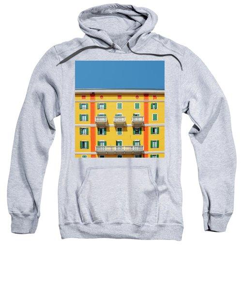 Mediterranean Colours On Building Facade Sweatshirt