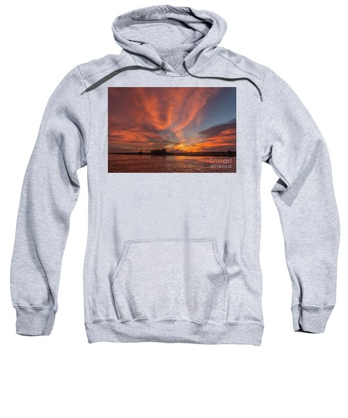 Sweatshirt featuring the photograph Mekong Sunset 3 by Werner Padarin