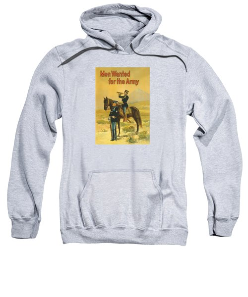 Men Wanted For The Army Sweatshirt by War Is Hell Store