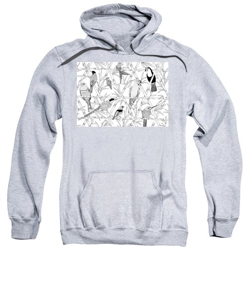 Menagerie Black And White Sweatshirt by Jacqueline Colley