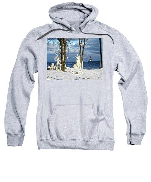 Menominee Lighthouse Ice Sculptures Sweatshirt