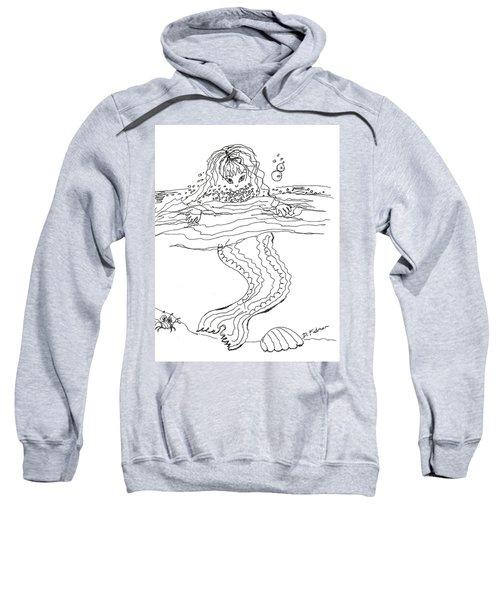 Mermaid Bubblebath Bw Sweatshirt