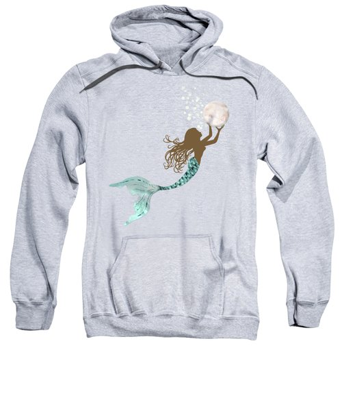 Mermaid Of Color Gathering Pearls Brown Siren Holds A Huge Pearl Sweatshirt