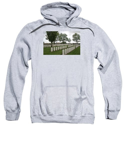 Sweatshirt featuring the photograph Messines Ridge British Cemetery by Travel Pics
