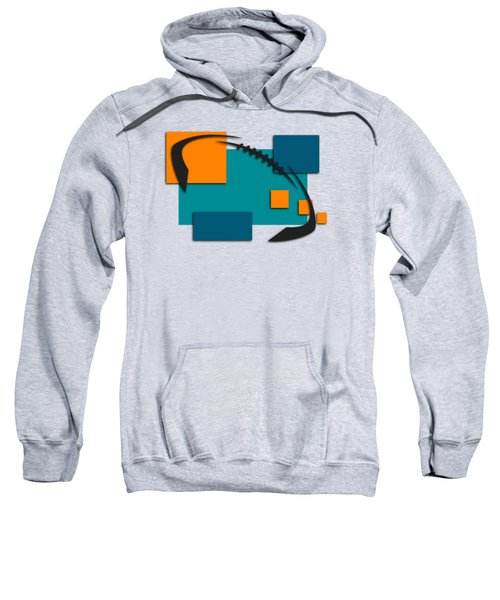 Miami Dolphins Abstract Shirt Sweatshirt by Joe Hamilton