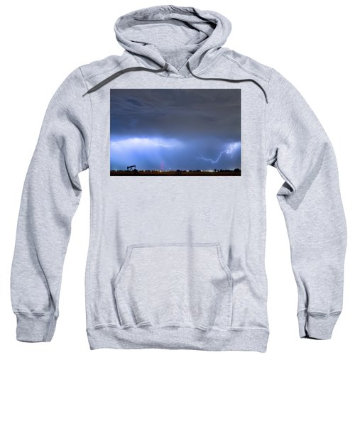 Sweatshirt featuring the photograph Michelangelo Lightning Strikes Oil by James BO Insogna