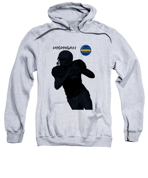 Michigan Football  Sweatshirt by David Dehner