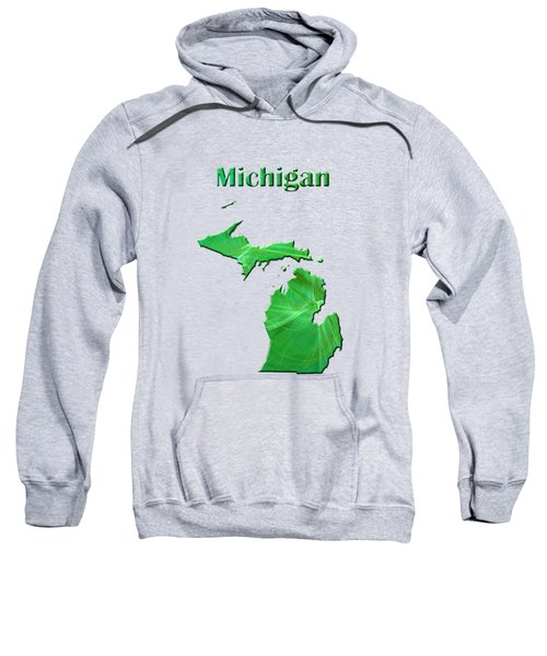 Michigan Map Sweatshirt by Roger Wedegis