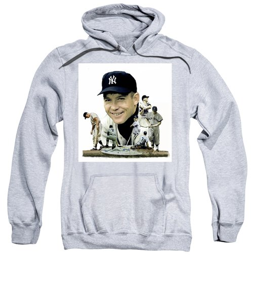 Mickey Mantle Legacy, II  Sweatshirt by Iconic Images Art Gallery David Pucciarelli