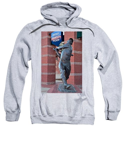 Mickey Mantle Plaza Sweatshirt by Frozen in Time Fine Art Photography