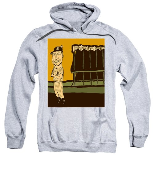 Mickey Mantle Yankee Stadium Sweatshirt by Jay Perkins