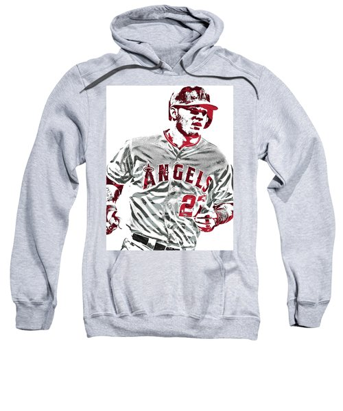 6dcb7527689 Mike Trout Los Angeles Angels Pixel Art 6 Sweatshirt