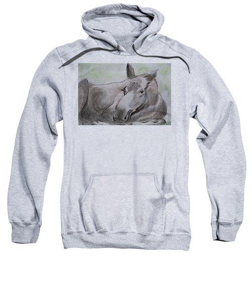 Mildred The Moose Resting Sweatshirt