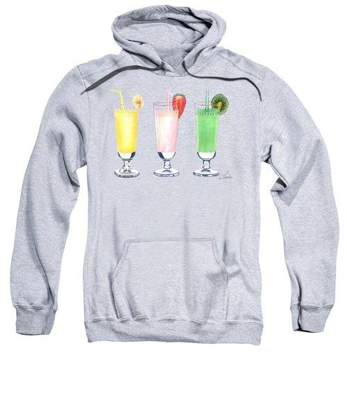 Milkshake In Style Sweatshirt by Sonja Taljaard