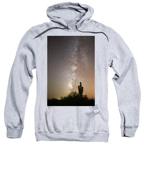 Milky Way And Saguaro Cactus Sweatshirt