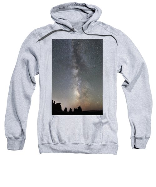 Milky Way Over Arches Np Two Sweatshirt