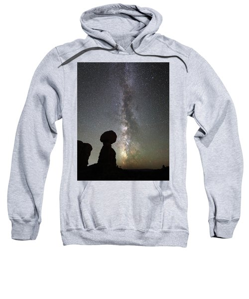Milky Way Over Arches Np Three Sweatshirt