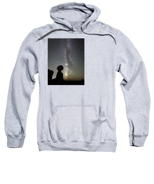 Milky Way Over Arches Np Three Sweatshirt