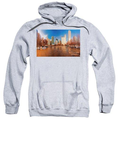 Millennium Park Skyline And The Bean  Sweatshirt