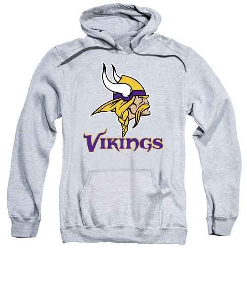 Minnesota Vikings On An Abraded Steel Texture Sweatshirt