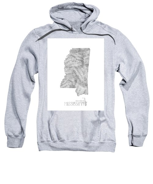 Mississippi Map Music Notes Sweatshirt