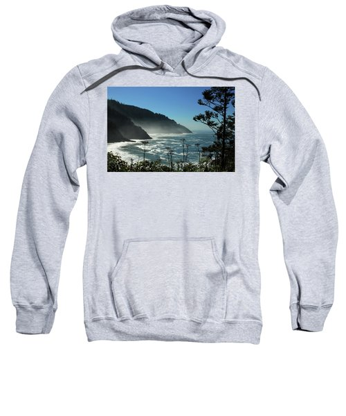 Misty Coast At Heceta Head Sweatshirt