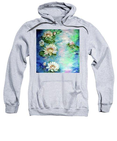 Misty Waters Waterlily Pond Sweatshirt