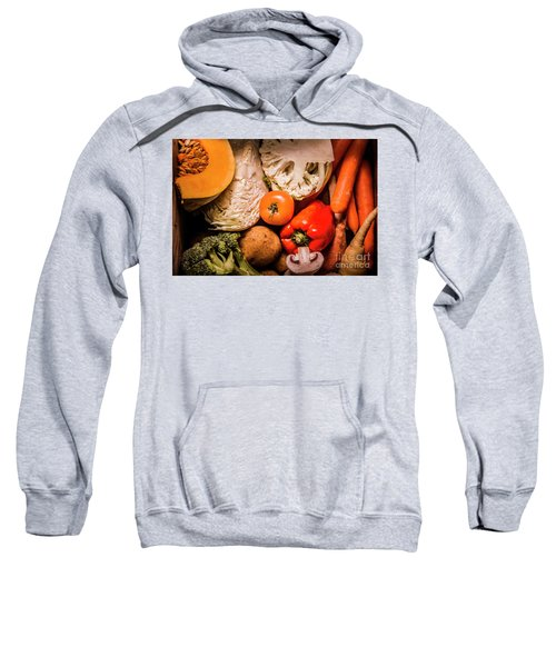 Mixed Vegetable Produce Pack Sweatshirt by Jorgo Photography - Wall Art Gallery