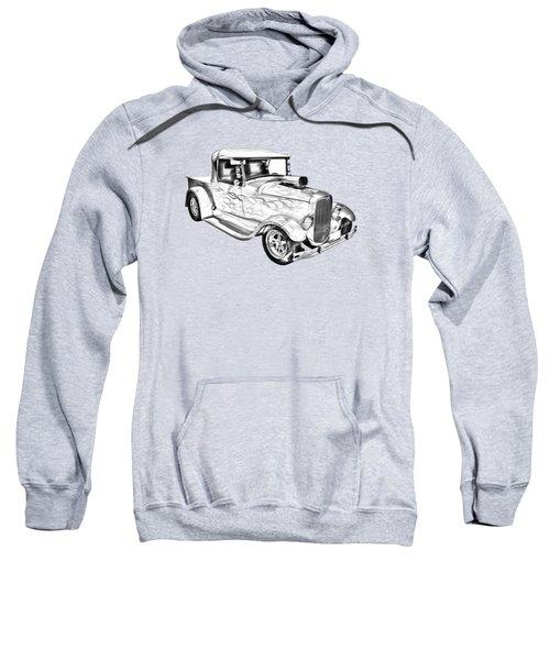 Model A Ford Pickup Hotrod Illustration Sweatshirt