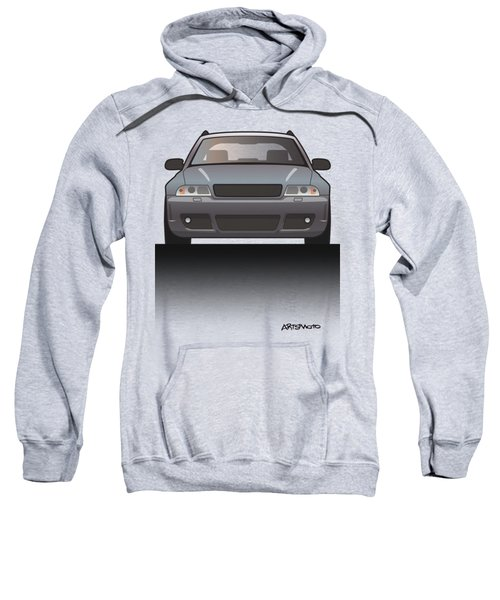 Modern Euro Icons Car Series Audi Rs4 A4 Avant Quattro B5 Split Sweatshirt