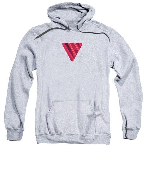 Modern Red Black Stripe Abstract Stream Lines Texture Design  Sweatshirt