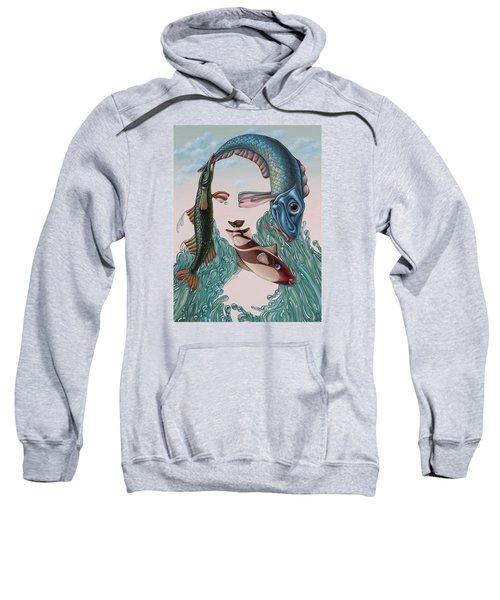 Mona Lisa. Water Sweatshirt