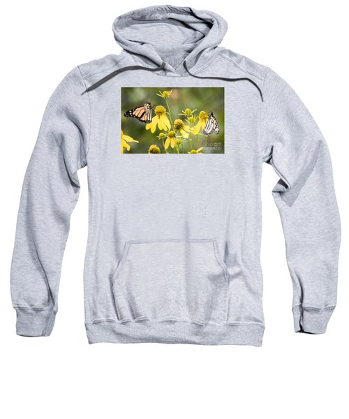 Sweatshirt featuring the photograph Monarchs Of Wisconsin by Ricky L Jones