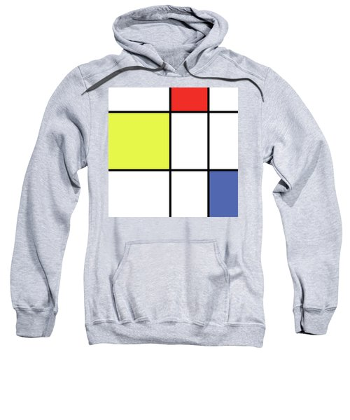 Mondrian Style Minimalist Pattern In Blue, Red And Yellow 01 Sweatshirt