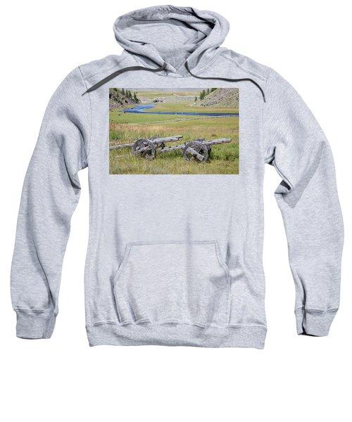 Sweatshirt featuring the photograph Mongolian Ox Carts by Hitendra SINKAR