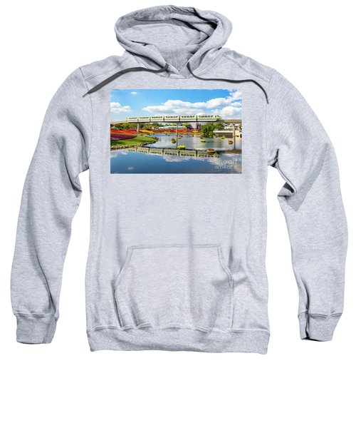 Monorail Cruise Over The Flower Garden. Sweatshirt