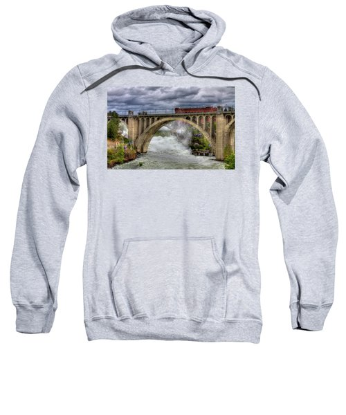 Monroe Street Bridge Spokane Sweatshirt