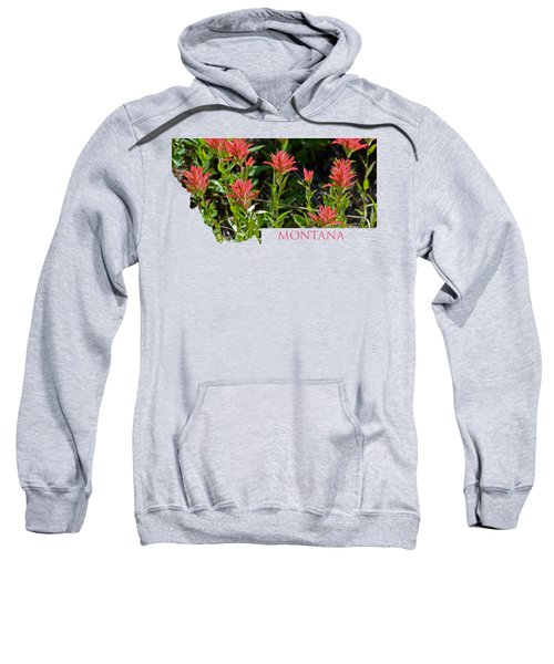 Montana-indian Paintbrush  Sweatshirt