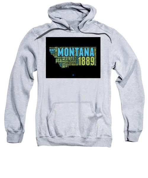 Montana Word Cloud 1 Sweatshirt