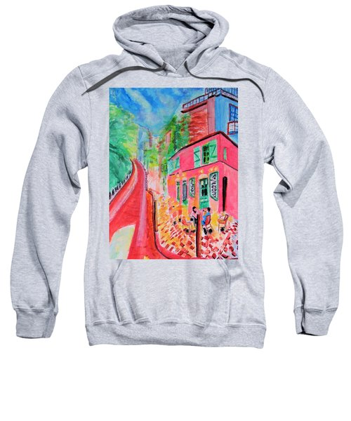 Montmartre Cafe In Paris Sweatshirt