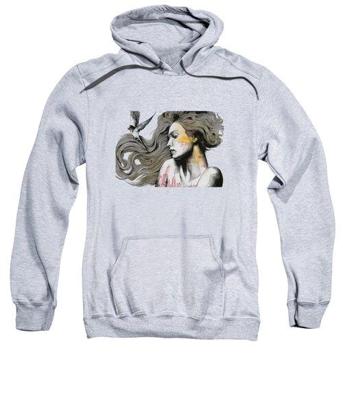 Monument - Long Hair Girl With Bird And Skyline Tattoo Sweatshirt