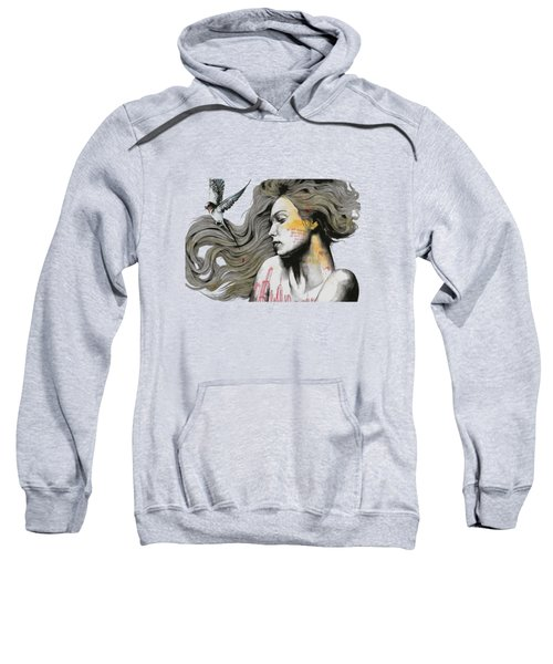 Monument - Long Hair Girl With Bird And Skyline Tattoo Sweatshirt