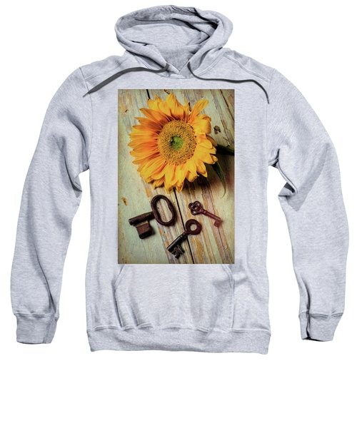 Moody Sunflower With Keys Sweatshirt