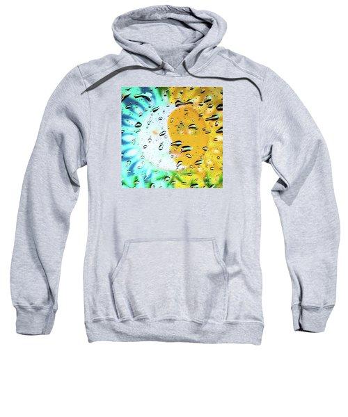 Moon And Sun Rainy Day Windowpane Sweatshirt