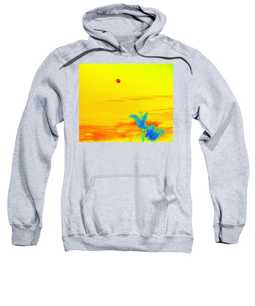 Moon And Two Palms Sweatshirt