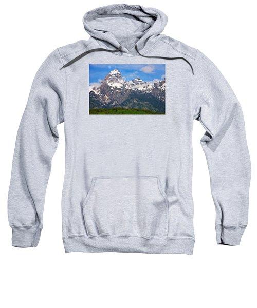 Moon Over The Tetons Sweatshirt