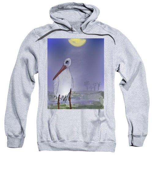 Moon Rise Becomes A Stork Sweatshirt