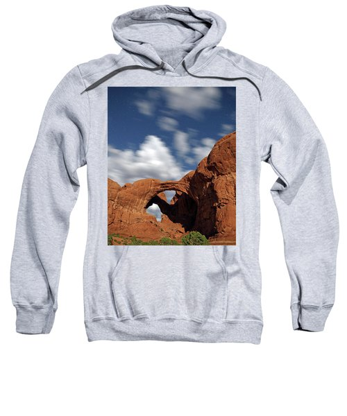 Moonlight On Double Arch In Arches Np Sweatshirt