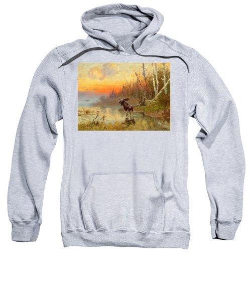 Moose At Sunset Sweatshirt